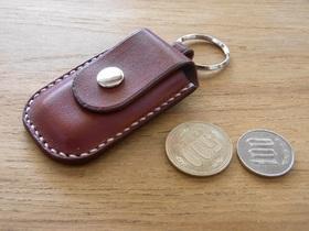 ミニコインケースキーホルダーとコイン