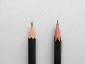 円錐削り(左)と六角錐削り(右)