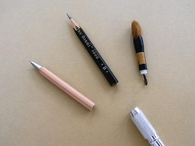 アタッチメントと鉛筆補助軸
