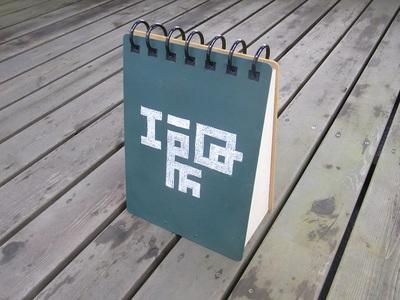 リングノート型看板