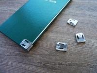 手帳のカドを保護するのに使えそうな道具