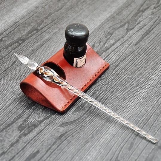 ガラスペン用ペンレスト+インクスタンド