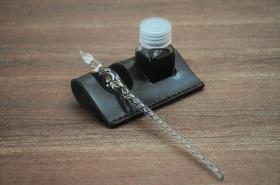 ガラスペン用ペンレスト+インクスタンド用 タミヤ瓶対応